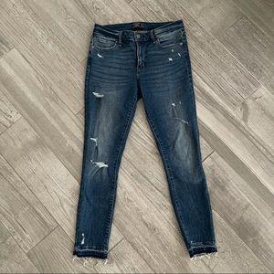 Abercrombie Distressed Harper Skinny Jeans